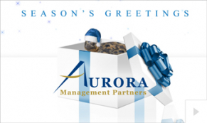 2019 Aurora - Gift box corporate holiday ecard thumbnail