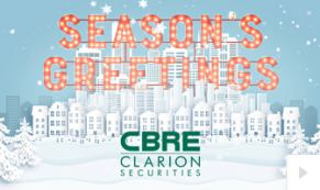 2019 CBRE Clarion - custom corporate holiday ecard thumbnail