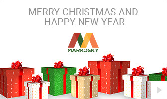 2019 Markosky - Wrapping Wishes corporate holiday ecard thumbnail