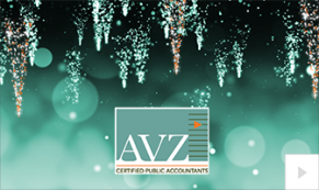 2019 AVZ shimmering icicles Vivid Greetings Corporate Ecard