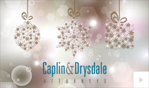 2019 Caplin Drysdale snowdrop Vivid Greetings Corporate Ecard