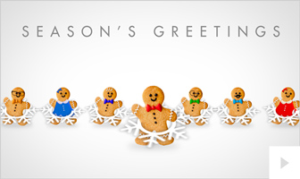 Gingerbread Shuffle corporate holiday ecard thumbnail