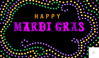 Mardi Gras 2020 corporate holiday ecard thumbnail