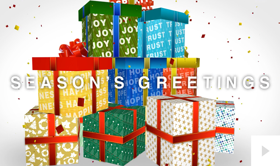 Gift Tower corporate holiday ecard thumbnail