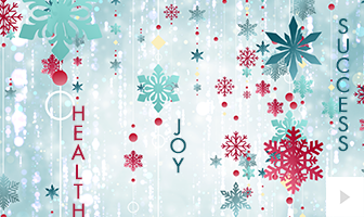 Snow Strings 2020 corporate holiday ecard thumbnail