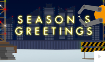 Precision corporate holiday ecard thumbnail