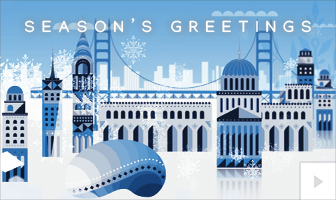 Drifting Snowflake 2020 corporate holiday ecard thumbnail