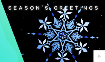 Playful Snowflake 2020 corporate holiday ecard thumbnail