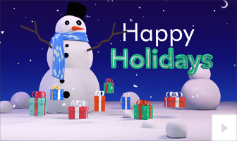 Snowman Surprise 2020 corporate holiday ecard thumbnail