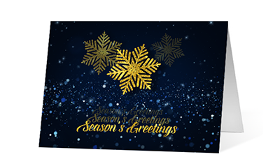 Echoing Wish 2020 corporate holiday print greeting card thumbnail