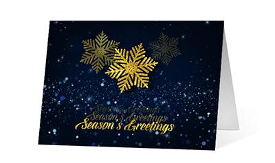 Echoing Wish 2020 corporate holiday print greeting card thumbnail