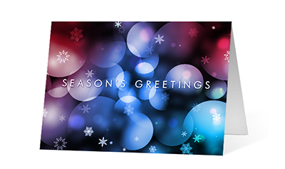 Mesmerize 2020 corporate holiday print greeting card thumbnail