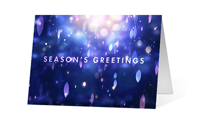 Resplendence 2020 corporate holiday print greeting card thumbnail