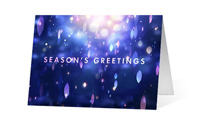 Resplendence 2020 corporate holiday print greeting card thumbnail
