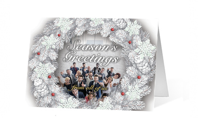 Our Team Wreath corporate holiday print thumbnail
