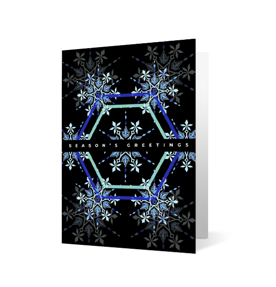 Playful Snowflake 2020 corporate holiday print greeting card