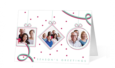 Festive Dance 2020 corporate holiday print greeting card thumbnail