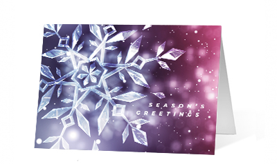 Ice Flare 2020 corporate holiday print greeting card thumbnail