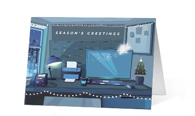 Night Before 2020 corporate holiday print greeting card thumbnail