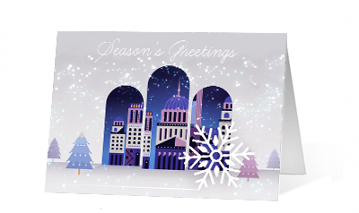 Unraveling Light 2020 corporate holiday print greeting card thumbnail