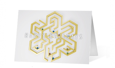 Labyrinth corporate holiday print thumbnail