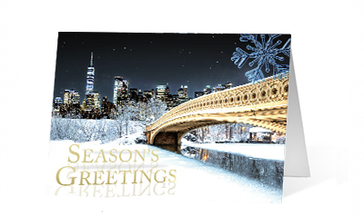 Peaceful Nature corporate holiday print thumbnail