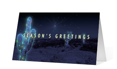 Cactus Wishes corporate holiday print thumbnail