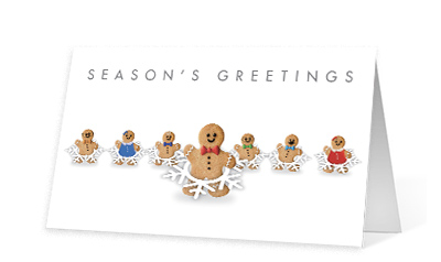 Gingerbread Shuffle corporate holiday print thumbnail