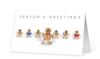 Gingerbread Shuffle corporate holiday print thumbnail