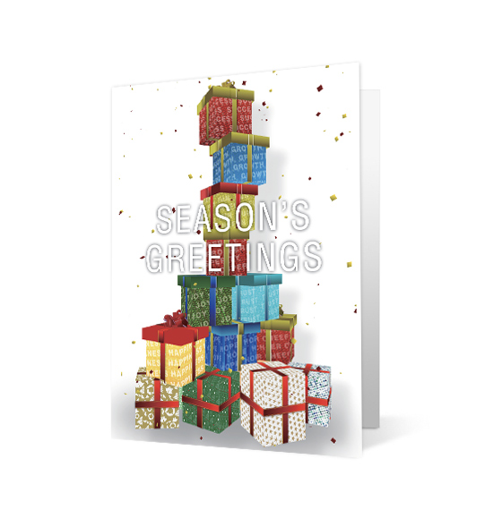 Gift Tower corporate holiday print thumbnail