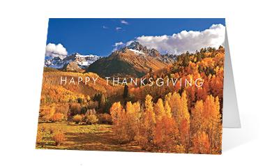 Autumn Rain 2020 corporate holiday print greeting card thumbnail