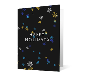 Dimensionality 2020 corporate holiday print greeting card thumbnail