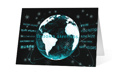 Orbital Greetings 2020 corporate holiday print greeting card thumbnail