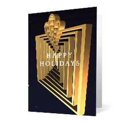 Revolving Wishes 2020 corporate holiday print greeting card thumbnail
