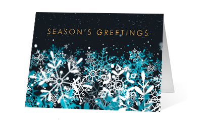 Snowflake Stream 2020 corporate holiday print greeting card thumbnail