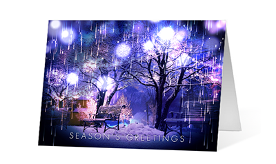 Cascading Lights version 1 2020 corporate holiday print greeting card thumbnail