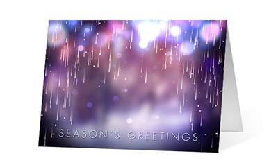 Cascading Lights version 2 2020 corporate holiday print greeting card thumbnail