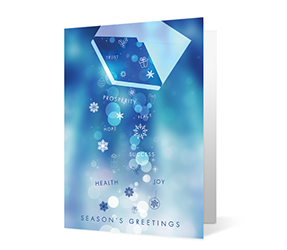 Collection of Wishes 2020 corporate holiday print greeting card thumbnail
