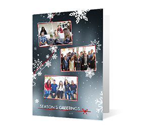 Our Team 2020 corporate holiday print greeting card thumbnail