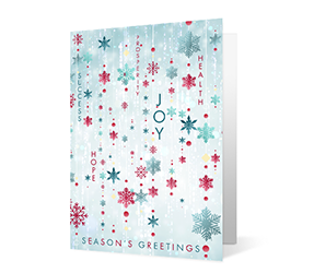 Snow Strings 2020 corporate holiday print greeting card thumbnail