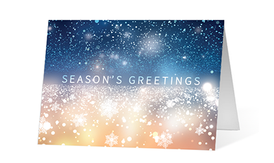 Sparkling Horizon color 1 2020 corporate holiday print greeting card thumbnail