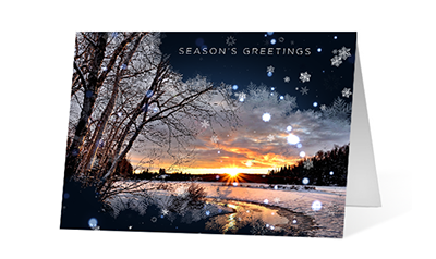 Unveiling snowflake version 1 2020 corporate holiday print greeting card thumbnail