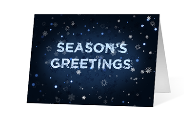 Unveiling snowflake version 2 2020 corporate holiday print greeting card thumbnail