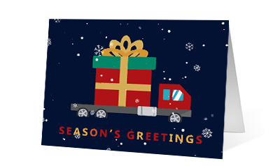 Holiday Delivery 2020 corporate holiday print greeting card thumbnail