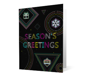 Merry Bright version 2 2020 corporate holiday print greeting card thumbnail
