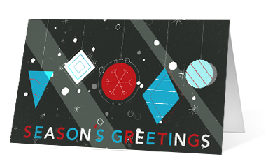 Merry moment 2020 corporate holiday print greeting card thumbnail