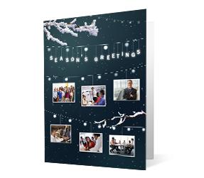 Night Lights Photo 2020 corporate holiday print greeting card thumbnail