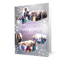 Photo Collage 2020 corporate holiday print greeting card thumbnail