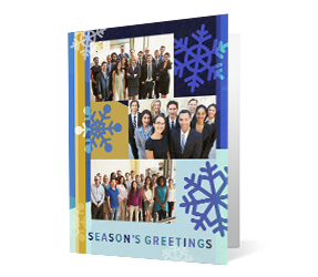 Photo Flow 2020 corporate holiday print greeting card thumbnail