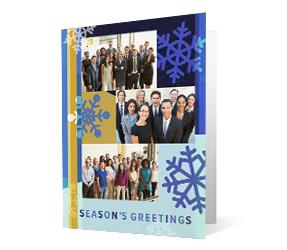 Photo Flow 2020 corporate holiday print greeting card thumbnail